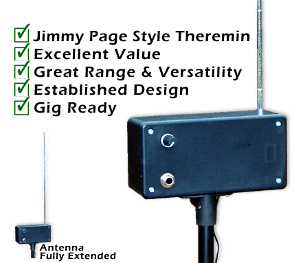 Zep Theremin - Inspired by Jimmy Page, this gig-ready instrument is an excellent value with great range & versatility